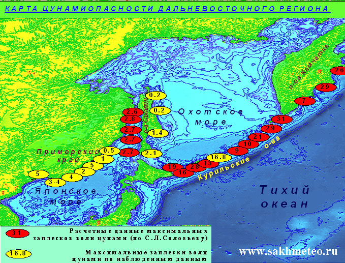 Карта - схема пороговых